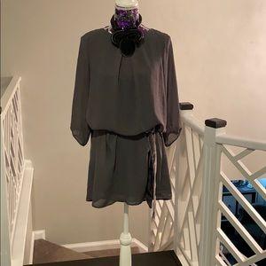 HM Swing dress grey 6 100%poylester